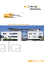Titelseite Seminarprogramm 2020 der Akademie der chemischen und pharmazeutischen Industrie in Baden-Württemberg / Baden-Baden