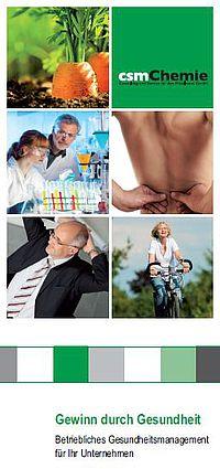 """Das Angebot """"Gewinn durch Gesundheit"""" der csmChemie GmbH: für den Mittelstand. Nicht nur für die Chemie. Details unter http://csm.chemie.com/gewinndurchgesundheit"""