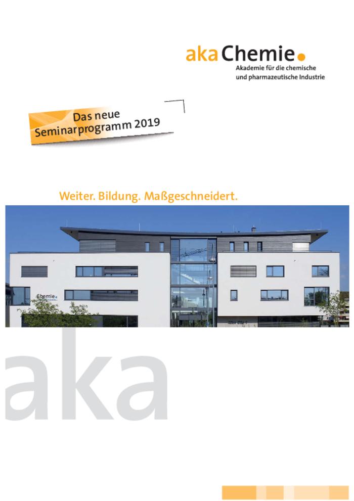 Seminarprogramm 2019 Akademie ChemieBW