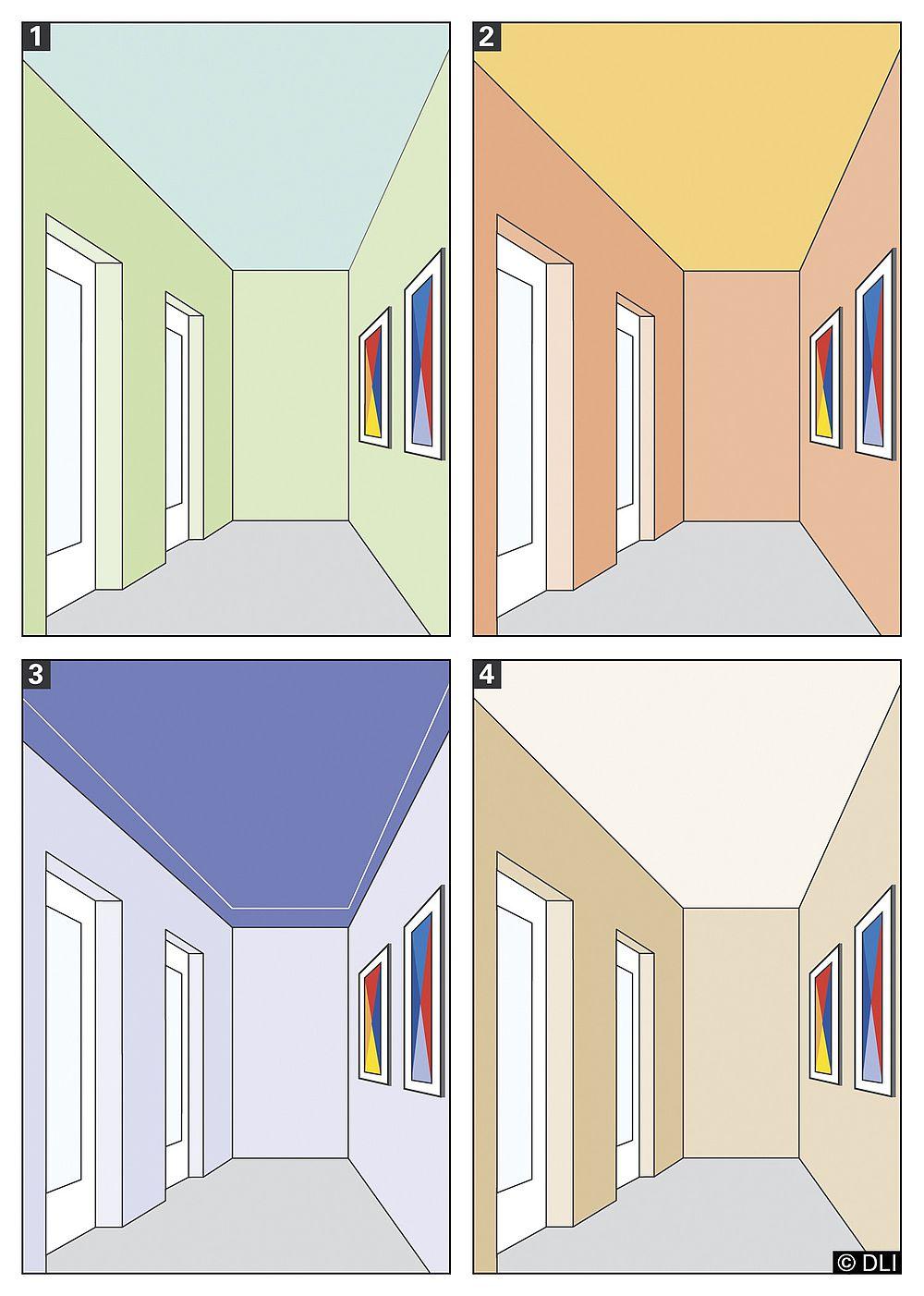 Dachschräge Farbwirkung